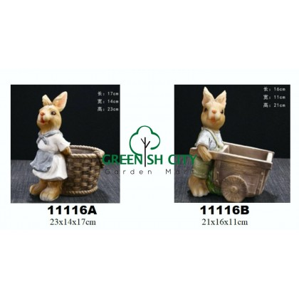 GNC - Home Deco Rabbit Design Pot Suuculent Cactus Pot Zakka Pot Pasu Indoor